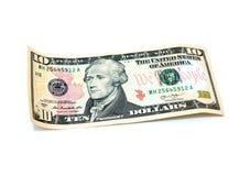 10 долларов банкноты Стоковые Изображения