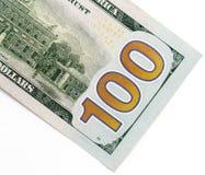 100 долларов Конец-вверх Стоковое Фото