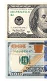 100 долларов Конец-вверх Стоковые Изображения RF