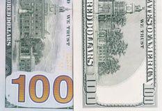 100 долларов Конец-вверх Стоковая Фотография