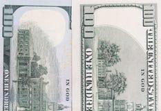 100 долларов Конец-вверх Стоковые Фотографии RF