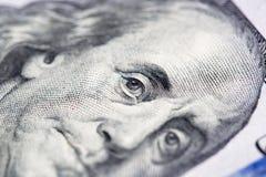 100 долларов Конец-вверх Стоковое фото RF