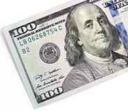 100 долларов Конец-вверх Стоковые Фото