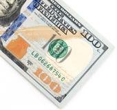 100 долларов Конец-вверх Стоковое Изображение