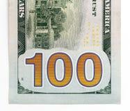 100 долларов Конец-вверх Стоковые Изображения