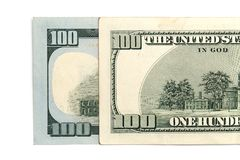 100 долларов Конец-вверх Стоковая Фотография RF