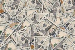 100 долларов конца примечания вверх Стоковое Фото