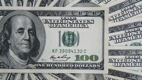 100 долларов кучи Предпосылка денег, куча долларов, финансовая концепция заработков Взгляд сверху финансовохозяйственно Стоковые Фото