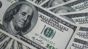 100 долларов кучи Предпосылка денег, куча долларов, финансовая концепция заработков Взгляд сверху финансовохозяйственно Стоковая Фотография RF