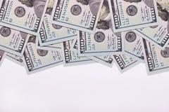 100 долларов США изолированных на белой предпосылке Стоковая Фотография