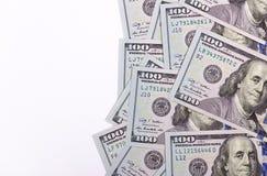 100 долларов США изолированных на белой предпосылке Стоковые Изображения RF
