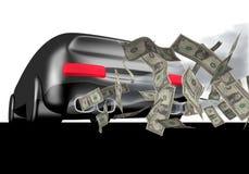 доллары автомобиля иллюстрация штока