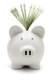 доллары банка piggy мы Стоковое Изображение RF
