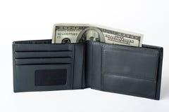 доллары бумажника работа в Америке доходы страны стоковые изображения