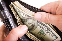 доллары бумажника Стоковая Фотография