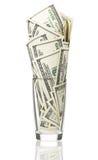 Доллары в стекле Стоковые Изображения RF