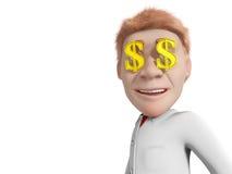 доллары глаз Стоковая Фотография RF