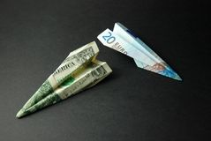 доллары дег евро перемещают мы Стоковая Фотография RF