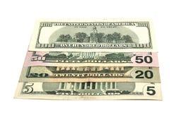 доллары деноминаций разносторонние Стоковые Изображения RF