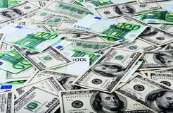 доллары евро стоковые фото