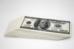 Доллары концепции крупного плана Американские доллары денег наличных денег доллар 100 одно кредиток Стоковые Фотографии RF