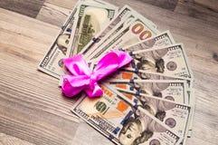 Доллары концепции крупного плана концепция финансов денег наличных денег Стоковое Фото
