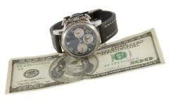доллары кредитки 100 вахт Стоковые Фото