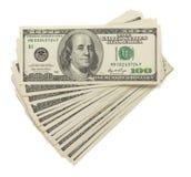 Доллары кредиток дег изолированных на белизне стоковое фото rf