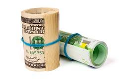 доллары кренов 2 евро Стоковое Изображение RF