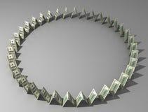 доллары круга Стоковая Фотография RF