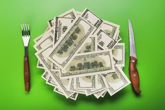 доллары кучи Стоковое фото RF