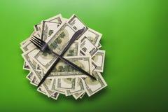 доллары кучи Стоковое Изображение