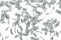 доллары летать иллюстрация штока