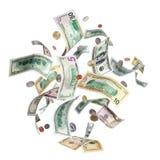доллары летать Стоковая Фотография