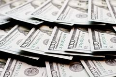 Доллары лож в вентиляторе Стоковое Изображение RF
