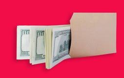 доллары мешка коричневые Стоковые Изображения RF