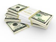 доллары над белизной стога Стоковое Изображение RF