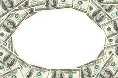 доллары обрамляют 100 сделали Стоковые Фото