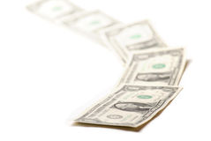 доллары одно Стоковое Изображение RF