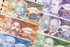 Доллары от Барбадос предпосылка стоковое изображение