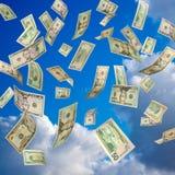 доллары падая мы Стоковое Фото