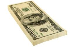 доллары пакета стоковая фотография