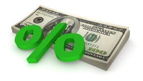 доллары процентов Стоковое Изображение