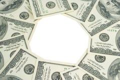 доллары пука изолировали белизну Стоковая Фотография