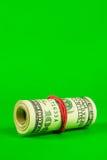 доллары резины крена связали вверх нас Стоковая Фотография