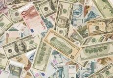 доллары рублевок евро русских Стоковые Фото