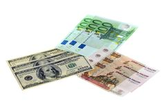 доллары рублевок евро Стоковое Изображение RF