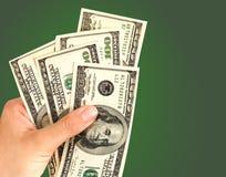 доллары руки Стоковое Фото