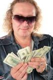 доллары солнечных очков человека Стоковое Изображение