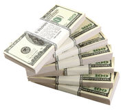 доллары стога Стоковые Изображения
